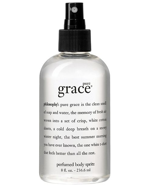 philosophy pure grace all over body spritz, 8 oz.