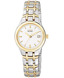 Women's Eco-Drive Two Tone Stainless Steel Bracelet Watch 25mm EW1264-50A