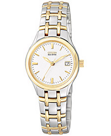 Citizen Women's Eco-Drive Two Tone Stainless Steel Bracelet Watch 25mm EW1264-50A