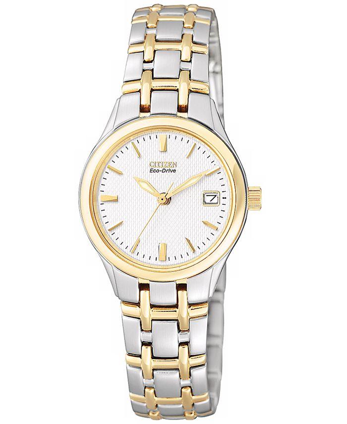 Citizen - Women's Eco-Drive Two Tone Stainless Steel Bracelet Watch 25mm EW1264-50A