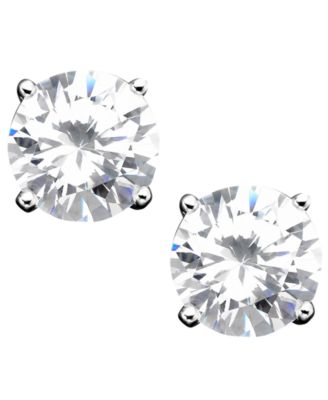 Image of Giani Bernini Sterling Silver Cubic Zirconia Stud Earrings (4 ct. t.w.)