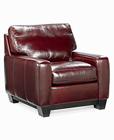 "Hampton 36"" Leather Living Room Chair"