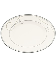 Platinum Wave Butter Relish Tray