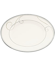 Noritake Platinum Wave Butter Relish Tray
