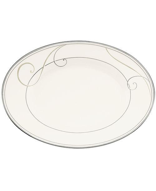 Noritake Platinum Wave Butter Relish Tray