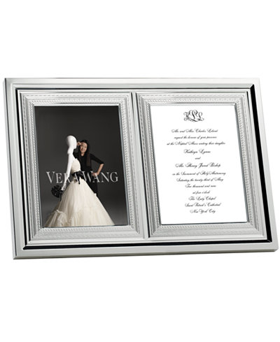 vera wang wedgwood with love double invitation frame