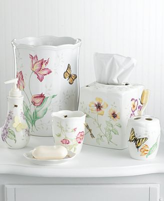 Lenox quot butterfly meadow quot bath accessories bathroom accessories bed amp bath macy s
