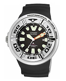 Citizen Men's Eco-Drive Black Rubber Strap Watch 48mm BJ8050-08E