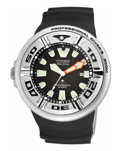 Citizen Men's Eco-Drive Black Rubber Strap Watch 48mm BJ8050-08E
