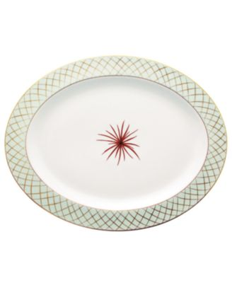 """""""Etoiles"""" Oval Platter, 15"""""""