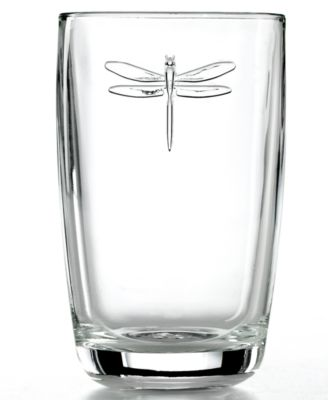 la rochre glassware set of 6 dragonfly highball glasses - Highball Glasses