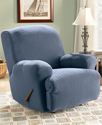 Sure Fit Stretch Pinstripe Recliner Slipcover Slipcovers