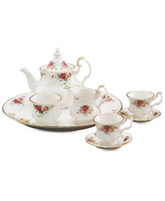 Serveware, Old Country Roses 9 Piece Mini Tea Set