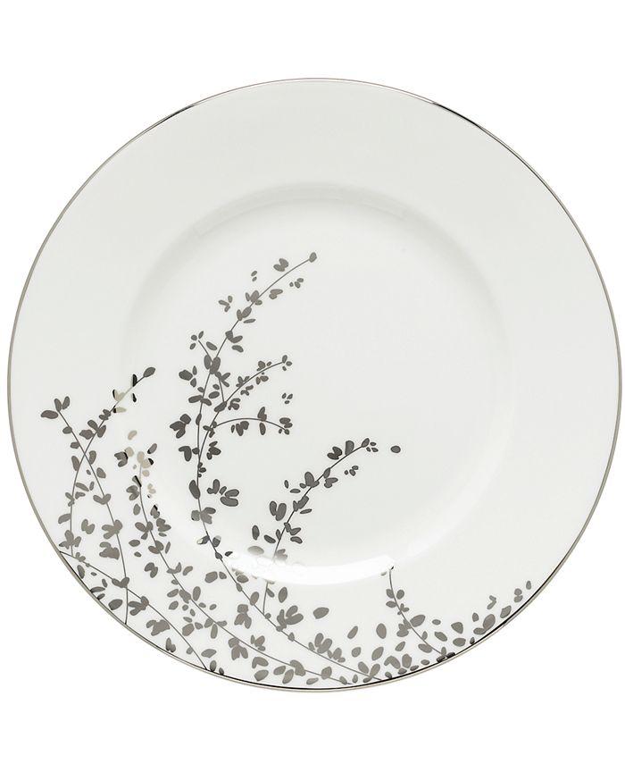 """kate spade new york - """"Gardner Street Platinum"""" Dinner Plate"""