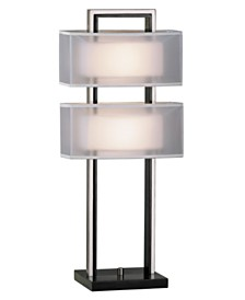 Nova Lighting Amarillo Silver Table Lamp