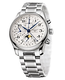 Longines Men's Master Collection Silver-Tone Stainless Steel Bracelet Watch L26734786