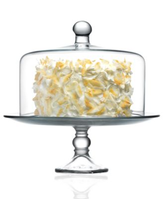 main image  sc 1 st  Macyu0027s & The Cellar Serveware Glass Cake Stand with Dome Created For Macyu0027s ...