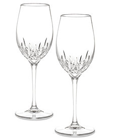 Waterford Stemware Lismore Essence White Wine Glasses, Set of 2