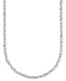 Italian Gold 14k White Gold Perfectina Chain Necklace (1-1/4mm)