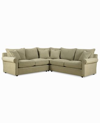 doss fabric microfiber 3-piece sectional sofa - furniture - macy's
