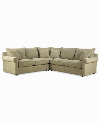 Doss Fabric Microfiber 3-Piece Sectional Sofa - Doss Fabric Microfiber 3-Piece Sectional Sofa - Furniture - Macy's