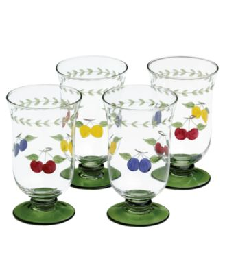 French Garden Cheer Iced Tea Glasses, Set of 4