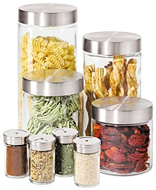 Canisters & Spice Jars, Glass 8 Piece Set
