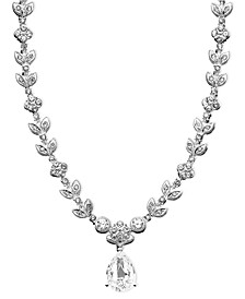 Cubic Zirconia Leaf (1 ct. t.w.) Necklace, Created for Macy's