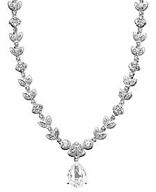 Eliot Danori Cubic Zirconia Leaf (1 ct. t.w.) Necklace, Created for Macy's