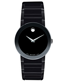 Movado Men's Swiss Black PVD Bracelet Watch 38mm 0606307
