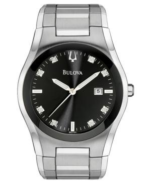 Bulova Men's Stainless Steel Bracelet Watch 40mm 96D104
