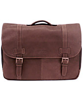 Kenneth Cole Reaction Colombian Leather Flapover Laptop Bag 8be4730ee6