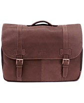 493da80c25b7 Kenneth Cole Reaction Colombian Leather Flapover Laptop Bag