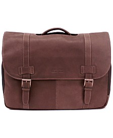 4be0b08040 Kenneth Cole Reaction Colombian Leather Flapover Laptop Bag