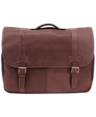 Kenneth Cole Reaction Colombian Leather Flapover Laptop Bag ...