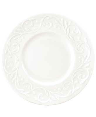 Dinnerware, Set of 4 Opal Innocence Carved Dessert Plates