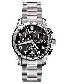 Victorinox Swiss Army Men's Chronograph Stainless Steel Bracelet Watch 40mm 241403