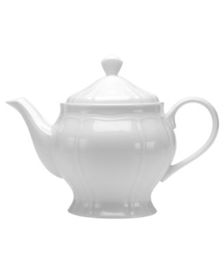 Dinnerware, Antique White Teapot
