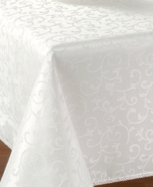 Lenox Opal Innocence 60 x 140 Oblong Platinum Tablecloth