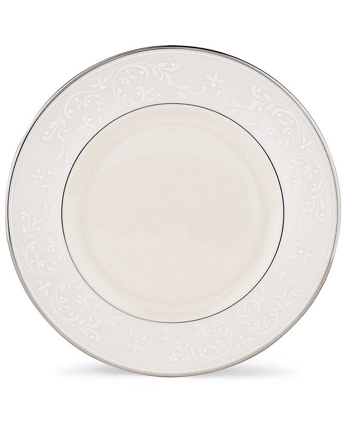 """Lenox - """"Pearl Innocence"""" Accent Plate, 9"""""""