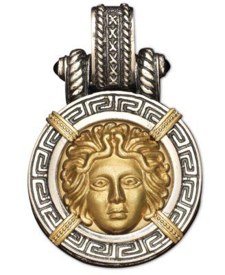 14k Gold and Sterling Silver Pendant Medusa Enhancer Necklaces