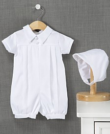 Lauren Madison Baby Boys Christening Romper