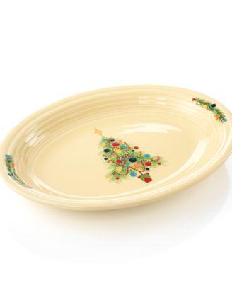 Christmas Tree Oval Platter