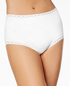 Bliss Lace-Trim High Rise Cotton Brief 755058