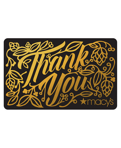 Thank You Gift Card with Greeting Card
