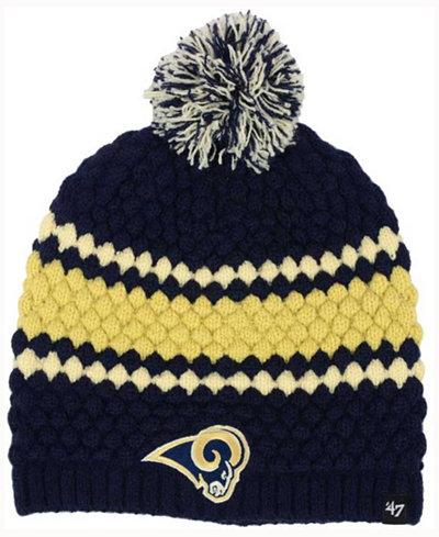 '47 Brand Women's Los Angeles Rams Leslie Pom Knit