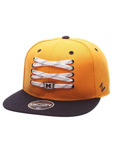 Zephyr Michigan Wolverines HK Lacer Snapback Cap - Sports Fan Shop ... 28b9f7348a05