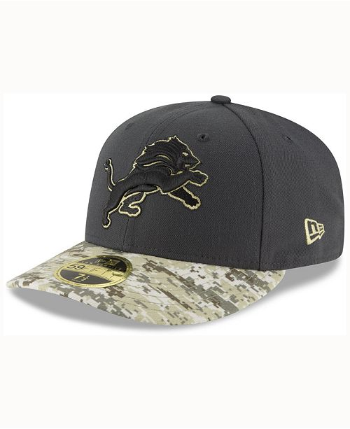 New Era Detroit Lions Salute To Service Low Profile 59FIFTY Fitted ... 6c5557c29