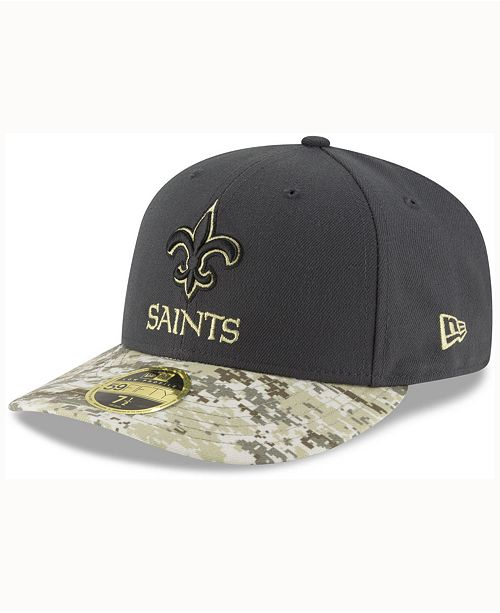86f5d6a71 New Era New Orleans Saints Salute To Service Low Profile 59FIFTY ...
