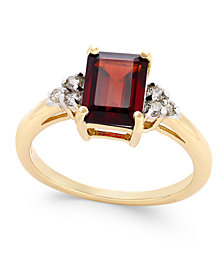 Rhodolite Garnet (1-9/10 ct. t.w.) and Diamond (1/8 ct. t.w.) Ring in 14k Gold